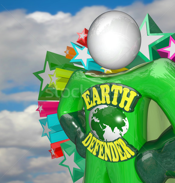 Earth Defender Super Hero Environmentalist Activist Stock photo © iqoncept