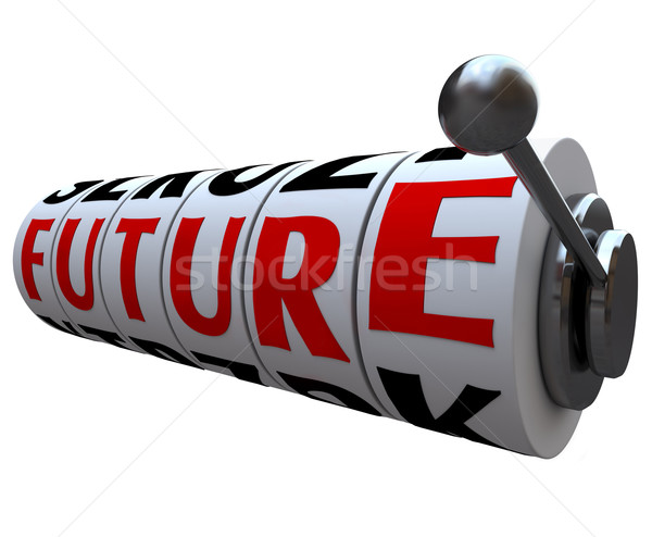 Future Word on Slot Machine Wheels Destiny Fate Stock photo © iqoncept