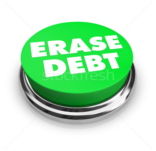 Erase Debt - Green Button Stock photo © iqoncept