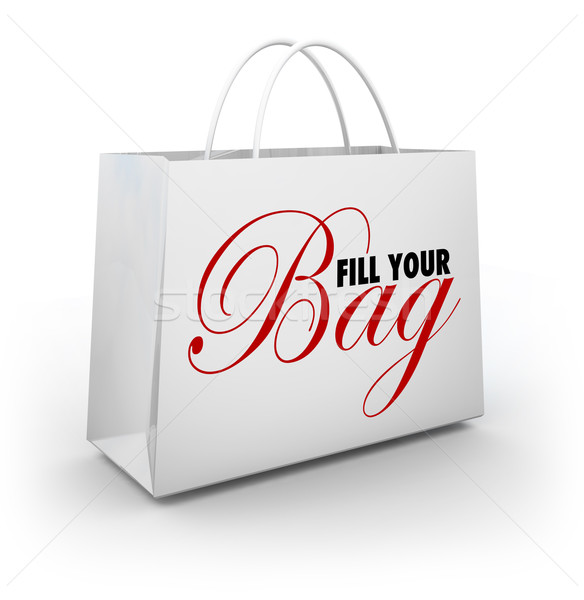 Fill Your Bag Shopping Spree Spend Splurge Binge Money Stock photo © iqoncept