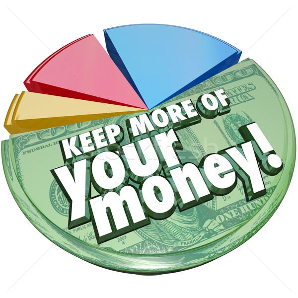 Keep More of Your Money Pie Chart Taxes Fees Costs Higher Percen Stock photo © iqoncept