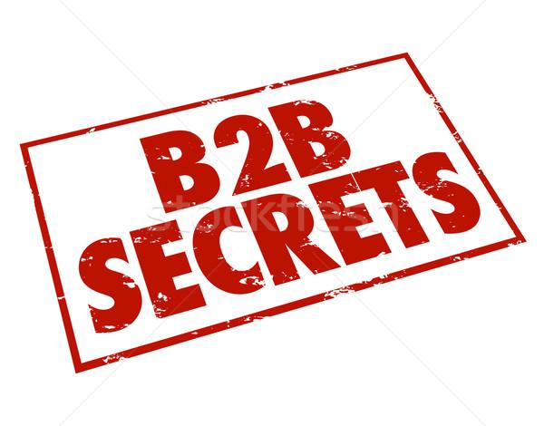B2b secrets rouge encre tampon informations Photo stock © iqoncept