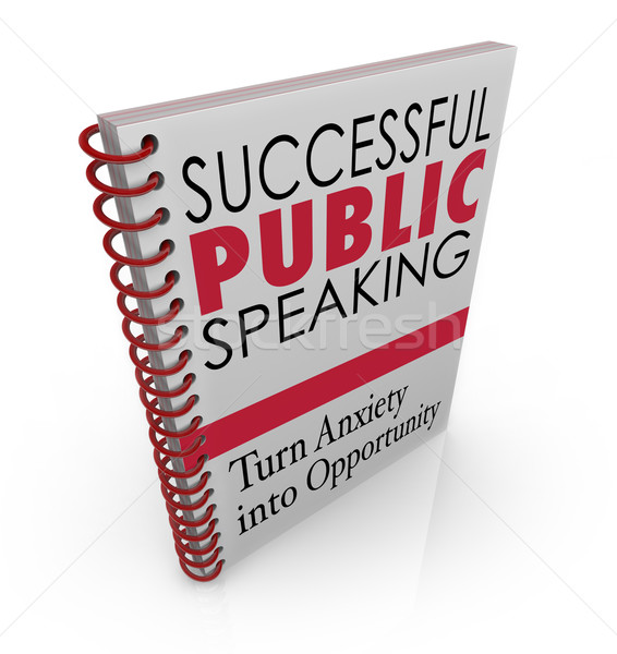 Successful Public Speaking Book Cover Help Advice Giving Speech Stock photo © iqoncept