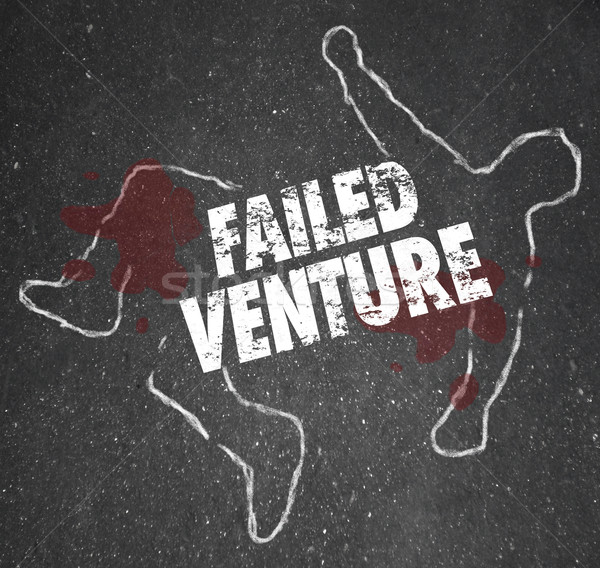 Failed Venture Chalk Outline Startup Business Dead Body Killed Stock photo © iqoncept