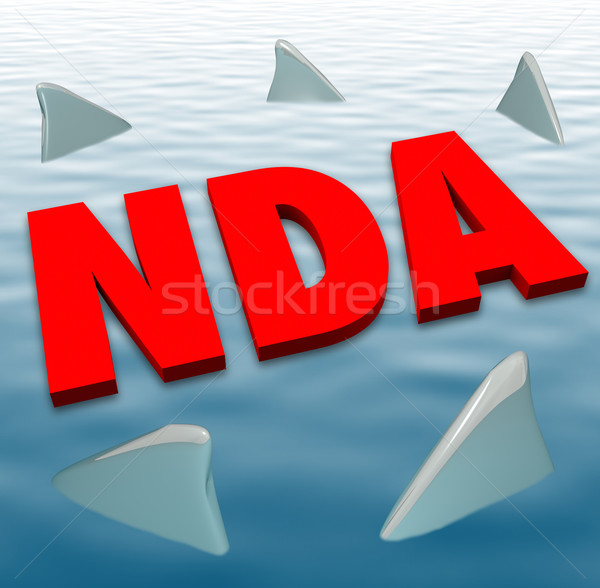 NDA Non Disclosure Agreement Sharks Danger Restriction Sharing S Stock photo © iqoncept