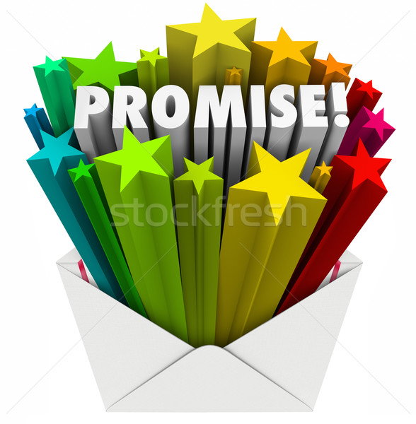 Promise Word Guarantee Oath Vow Pledge Obligation Note in Envelo Stock photo © iqoncept