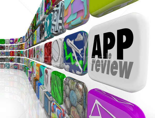 App Review Software Program Evaluation Process Rating Score Stock photo © iqoncept