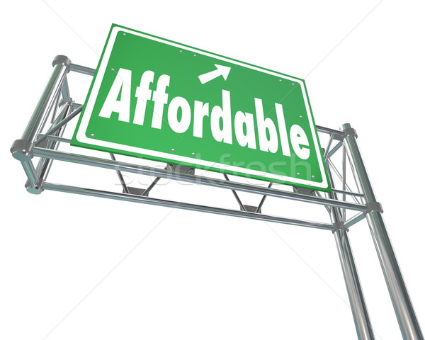 Affordable Best Value Low Price Words Freeway Sign Stock photo © iqoncept