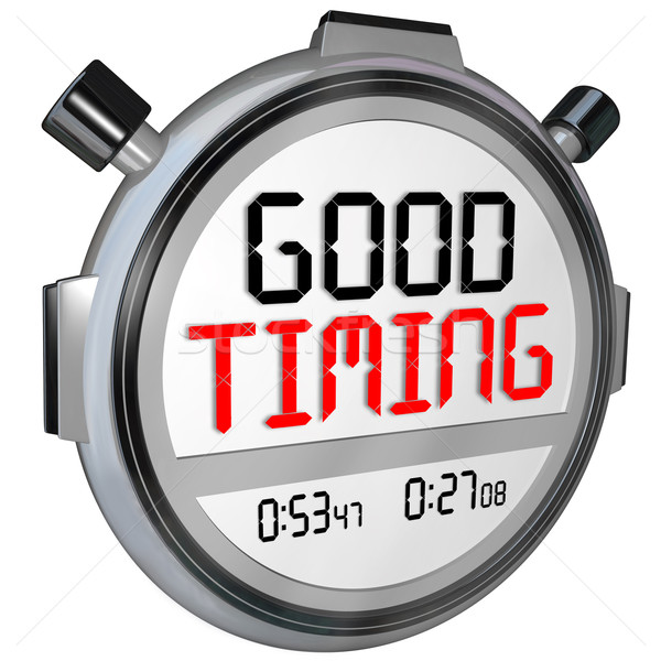 Good Timing Words Stopwatch Timer Fast Speed Arrival  Stock photo © iqoncept