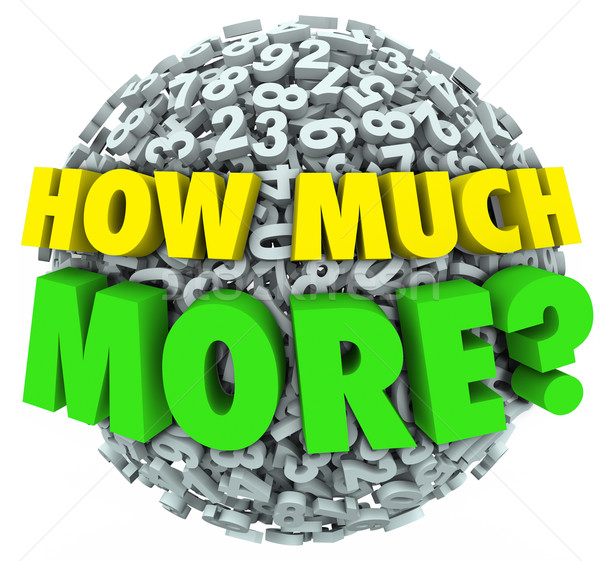 How Much More Question Numbers Ball Additional Want Need Stock photo © iqoncept