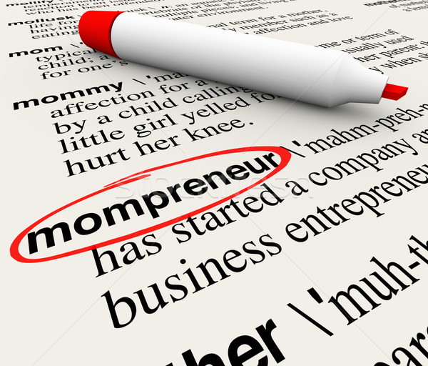 Mompreneur Entrepreneur Mother Working Home Business Dictionary  Stock photo © iqoncept