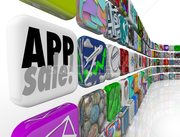 App Sale Words Softare Applications Program Discount Special Off Stock photo © iqoncept