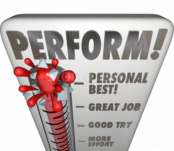 Perform Thermometer Measure Score Feedback Grade Rating Success Stock photo © iqoncept