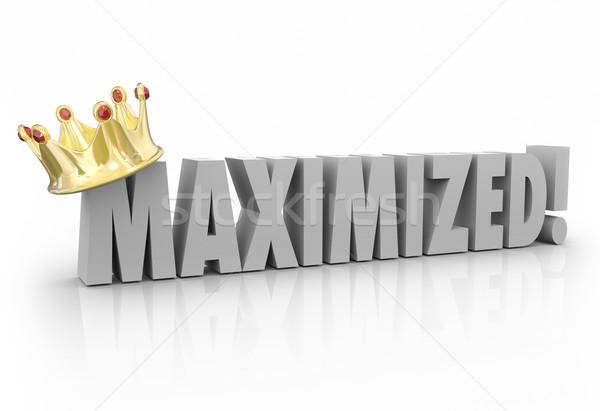 3D woord goud kroon koning compleet Stockfoto © iqoncept