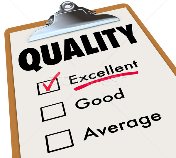 Quality Checklist Clipboard Excellent Rating Grade Review Stock photo © iqoncept