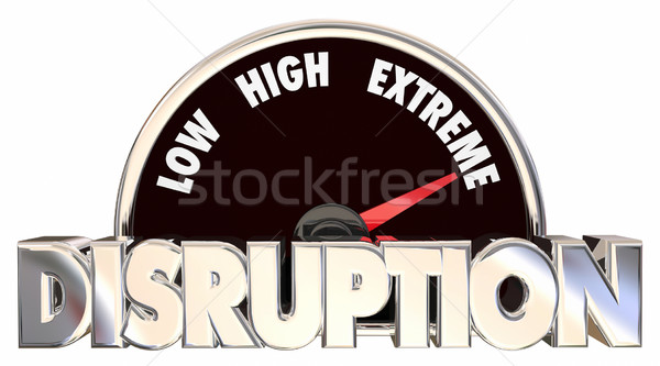 Disruption Change Adapting New Product Evolution Meter 3d Words Stock photo © iqoncept