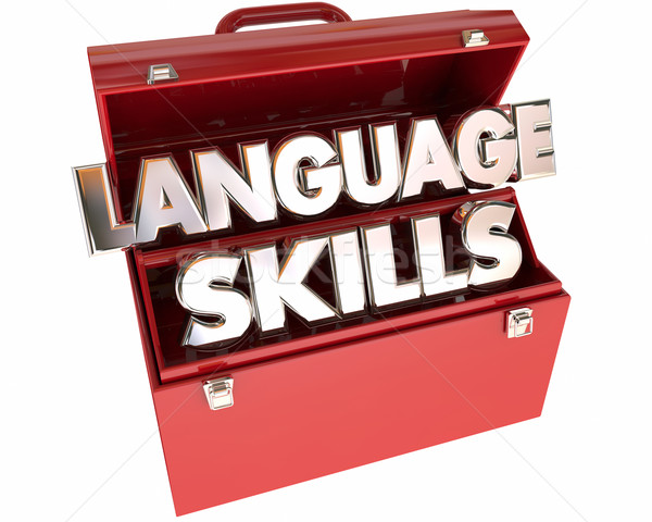 Language Skills Tools Toolbox Communication Foreign Translation Stock photo © iqoncept