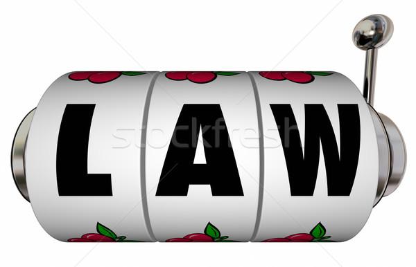 Law Legal Verdict Court Case Trial Lawyer Attorney Slot Machine  Stock photo © iqoncept