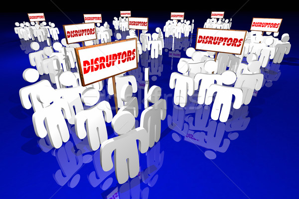 Disruptors Industry Change Agents Innovators People 3d Illustrat Stock photo © iqoncept