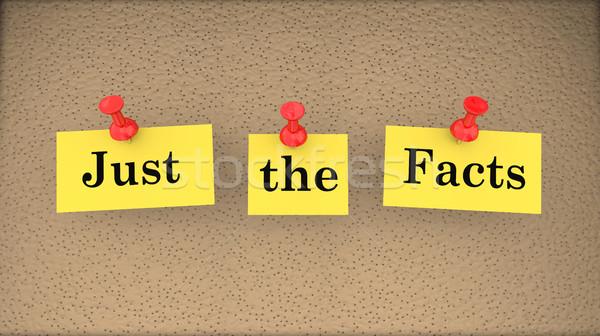 Fatos básico informação boletim conselho ilustração 3d Foto stock © iqoncept