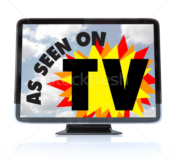 As Seen on TV - High Definition Television HDTV Stock photo © iqoncept