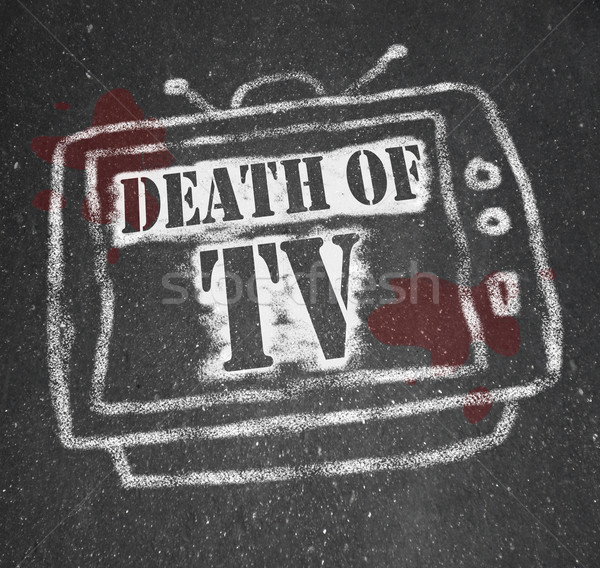 The Death of TV - Murdered by New Media Stock photo © iqoncept