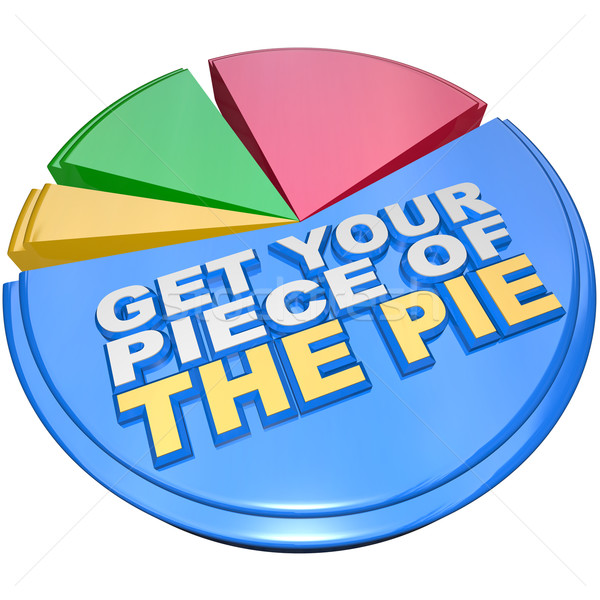 Get Your Piece of The Pie Chart Measuring Wealth and Riches Stock photo © iqoncept