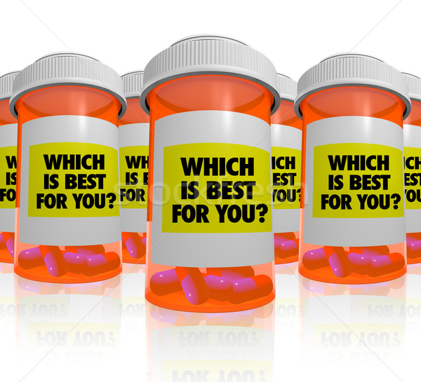 Many Prescription Bottles - Which Medicine is Best Stock photo © iqoncept