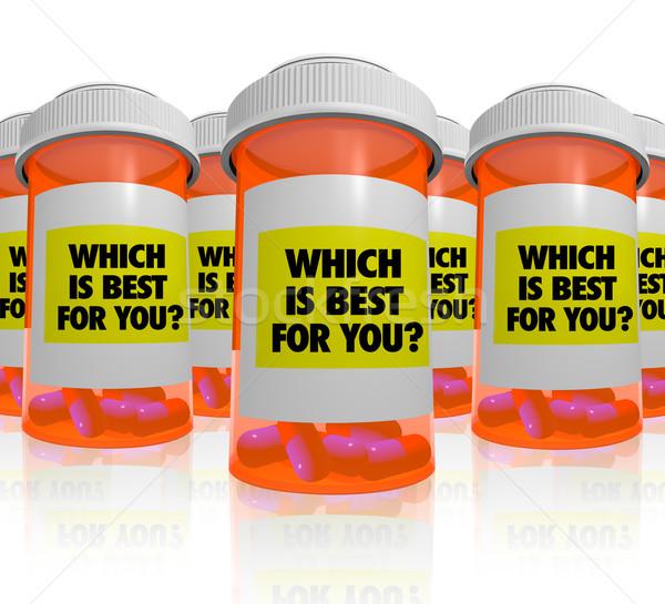 многие рецепт бутылок медицина лучший оранжевый Сток-фото © iqoncept