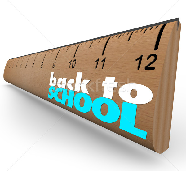 Back to School Words on Wooden Ruler Measurement Stock photo © iqoncept