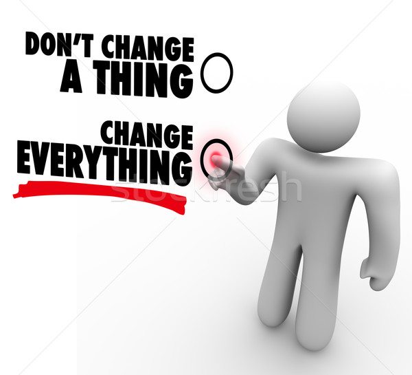 Don't Change A Thing - Everything Changes - Choose Different Stock photo © iqoncept