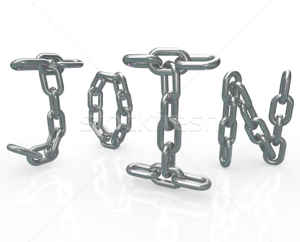 Join Word in Chain Links Joining Group Locked In Stock photo © iqoncept