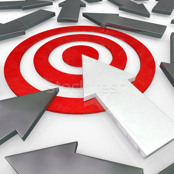 One Arrow Beats Others to the Target Winner Success Stock photo © iqoncept