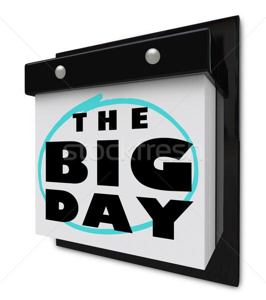 ビッグ 日 壁 カレンダー 特別イベント 興奮 ストックフォト © iqoncept