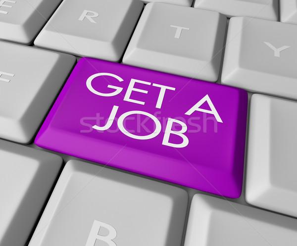 Get a Job Computer Key Stock photo © iqoncept