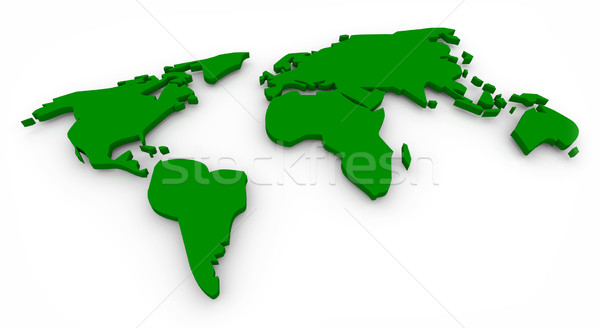Green Map of the World Stock photo © iqoncept
