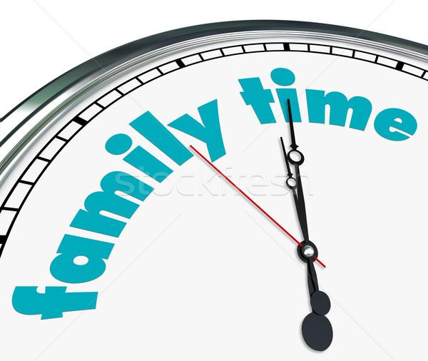 Family Time - Clock Stock photo © iqoncept