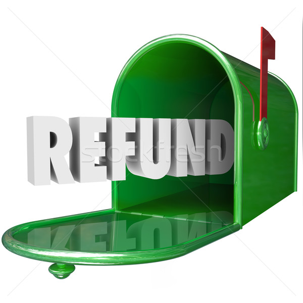 Refund Word Receive Money Back Mailbox Delivery Tax Stock photo © iqoncept