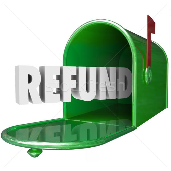 Viszzafizetés szó fogad pénz hát postaláda Stock fotó © iqoncept