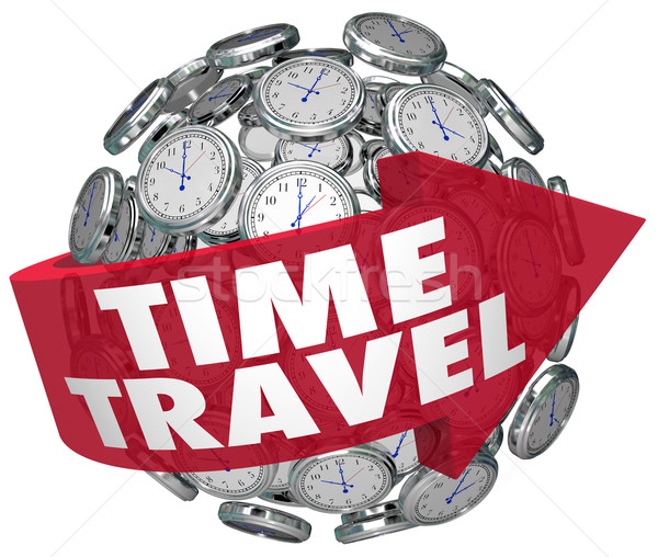 Time Travel Clock Sphere Future Science Fiction Prediction Stock photo © iqoncept