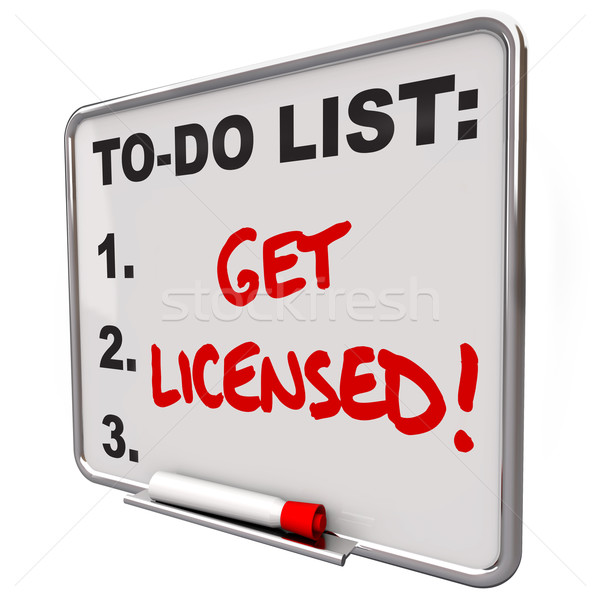 Get Licensed Words To Do List Board Approval Authorization Stock photo © iqoncept