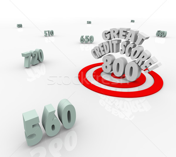 Great Credit Score Numbers Target High Rating Loan Borrow Stock photo © iqoncept