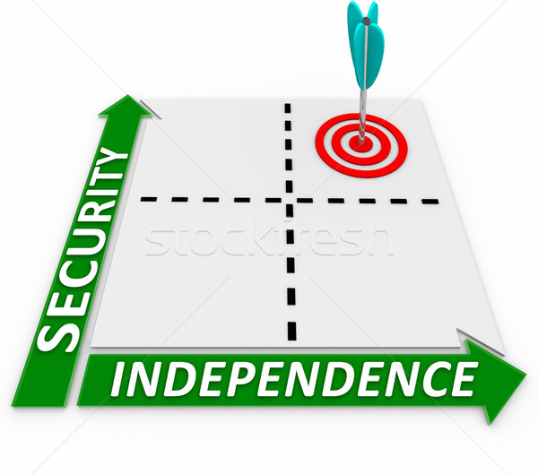 Independent Security Self Reliance Matrix Go On Your Own Stock photo © iqoncept