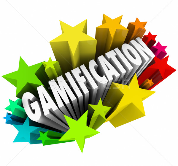 Gamification Word Stars Fireworks Exciting Online Learning Game Stock photo © iqoncept