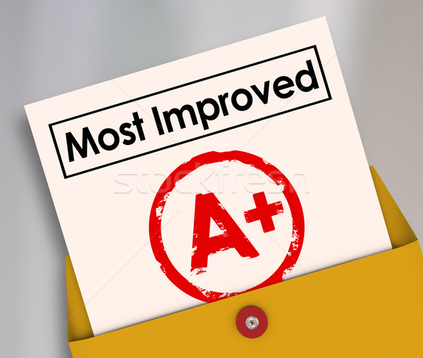 Most Improved Report Card Grade Score Increase Better Results Stock photo © iqoncept