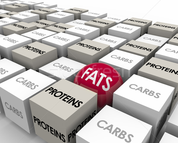 Fats Proteins Carbs Reduce Calories Lose Weight Stock photo © iqoncept