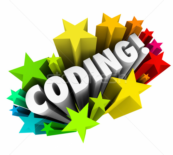 Coding Word Stars Website Program Developer Engineer Software Co Stock photo © iqoncept