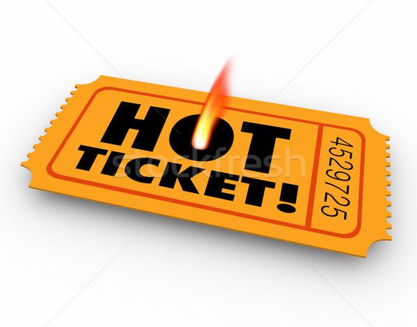 Hot ticket populair evenement zeldzaam Stockfoto © iqoncept