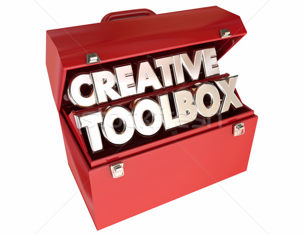 Creative Toolbox Imagination Ideas Inspiration 3d Words Stock photo © iqoncept