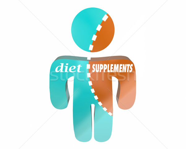 Diet Supplements Health Nutrition Vitamins Body Wellness Person  Stock photo © iqoncept